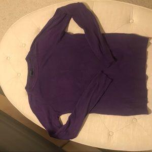 Sweaters - Purple crew neck sweater